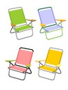 Four beach chairs Royalty Free Stock Photography
