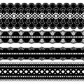 Four black ribbons Royalty Free Stock Images