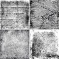 Four black and white grunge textures Royalty Free Stock Photo