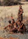 Four bushmen Royalty Free Stock Photo