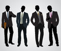 Four businessman silhouettes vector illustration of a Royalty Free Stock Photos