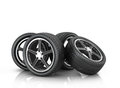 Four car wheels Royalty Free Stock Photo