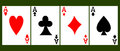 Four card aces vector illustration Royalty Free Stock Photo