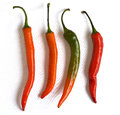 Four of Cayenne pepper Royalty Free Stock Photo