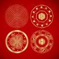 Four Chinese Vintage Symbols.