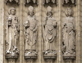 Four christian statues in Antwerpen, Belgium Royalty Free Stock Photo