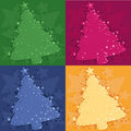 Four Christmas background Royalty Free Stock Photo