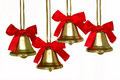 Four Christmas Bells Stock Images
