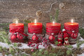Four christmas candle Royalty Free Stock Photo