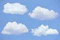 Quattro nuvole cielo