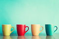 Four coffee cups Royalty Free Stock Photo