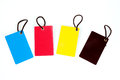 Four color blank  paper tag Royalty Free Stock Photography