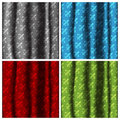 Four color curtains Royalty Free Stock Image