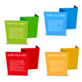 Four color empty spatial tags on white background Stock Photos