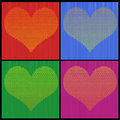Four Color Heart of Hearts Royalty Free Stock Photos
