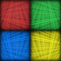 Four Color Interlocking Lines Background Stock Images