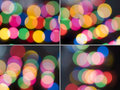 Four color light bokeh backgrounds Royalty Free Stock Image