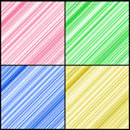 Four Color Lines of Hearts Stock Photography