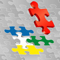 Four color puzzle Royalty Free Stock Photography