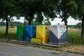 Four color trash cans garbage bin osijek croatia june in osijek croatia Stock Images
