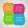Four colored connected stains with place for text Stock Photo