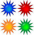 Four colored gel prize buttons Royalty Free Stock Photos