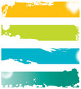 Four colored grunge banners Stock Images