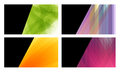 Four colorful abstract business cards Stock Photography