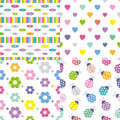 Four colorful backgrounds collection