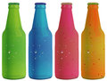 Four colorful bottles