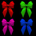 Four colorful bows Royalty Free Stock Photography