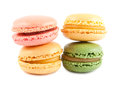 Four colorful french macaroons Royalty Free Stock Photography