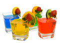 Four Colorful Mixed Drinks Royalty Free Stock Photo