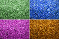Four colors bokeh background real including green blue pink and umber Royalty Free Stock Images