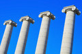 The Four Columns of Puig i Cadafalch in Barcelona Royalty Free Stock Image