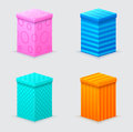 Four cones gift boxes with lids closed Royalty Free Stock Image