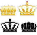 Four crowns Royalty Free Stock Images