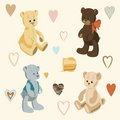 Four Cute Teddy Bears Royalty Free Stock Photography