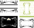 Four decorative frames for design Stock Photo