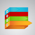 Four different color labels with arrows many Royalty Free Stock Images