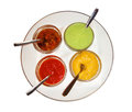 Four different sauces Royalty Free Stock Photo
