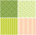 Four different seamless pattern Royalty Free Stock Photography