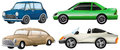 Four different types of cars illustration the on a white background Stock Photos