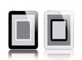 Four digital tablets in Stock Photography
