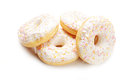 Four donuts over white background Stock Image
