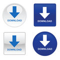 Four download buttons Stock Photo
