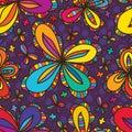 Four edge flower petal seamless pattern Royalty Free Stock Photo