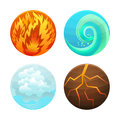 Four Element Set. Vector Royalty Free Stock Photo