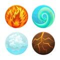 Four Element Set. Vector