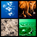 Four elements collage Royalty Free Stock Photo